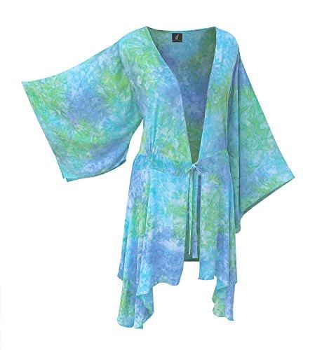 Plus Size Tunic Cardigan   Women's Kimono Sleeve, Original Print, O/S (1X-3X)