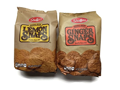 Stauffer's 2-pack Snaps Cookies Variety: Ginger Snaps & Lemon Snaps, 14 Oz. Bags [1 of Each] (Best Ginger Snaps)