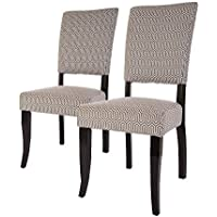 Glitzhome Fabric Dining Chairs Gary Beige, Set Of Two