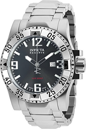Invicta Reserve 50mm Excursion Swiss Made Quartz Stainless Steel Bracelet Watch (90052) (Invicta 50 Millimeters)