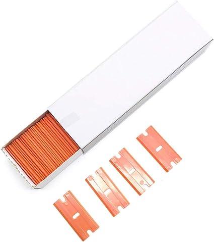 "Car Sticker Utility Knives Remover 100 PCS Plastic Razor Blades Edges For 1.5/"""