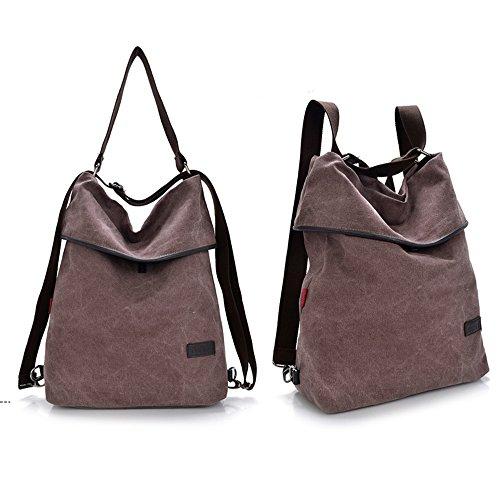 HongyuTing - Bolso mochila  para mujer Rojo granate (Wine red) café