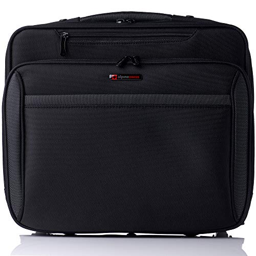 Alpine Swiss Rolling Laptop Briefcase Wheeled Overnight Carry on Bag Up to 17.5 Inches Notebook - Carries Legal Size Files