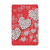 My Little Nest Valentines Day Hearts Cozy Throw Blanket Lightweight Microfiber Soft Warm Blankets Everyday Use for Bed Couch Sofa 60'' x 90''