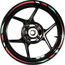 Stickman Pro Rapid CG4C Green Red White Red 17 inch Rim Motorcycle Sticker Wheel Decal Stripe Bubble Free