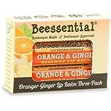 Beessential Orange Ginger Lip Balm (3 Pack)
