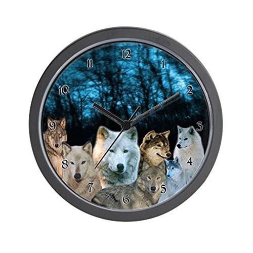 CafePress - Wolf Clock - Unique Decorative 10