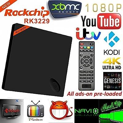 GoTron MINI MXQ Caja de TV Reproductor Android 4.4 Cuatro Nucleos 1GB/8GB XBMC Wifi 1080P con Control Remoto Kodi 4K Smart Internet