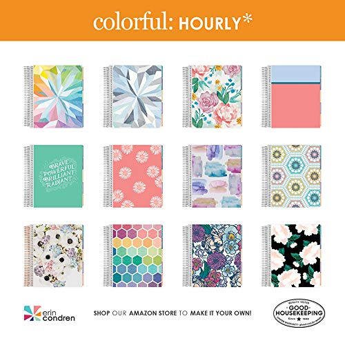 Erin Condren 12-Month July 2019 - June 2020 Coiled LifePlanner - Kaleidoscope Colorful, Hourly (Colorful Layout) by Erin Condren (Image #2)