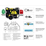 Champion Power Equipment 76533 3800 Watt Dual Fuel RV Ready Portable Generator with Electric Start,...