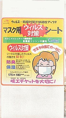 マスク用シート ウィルス対策・防臭・保湿コットンシート 1枚