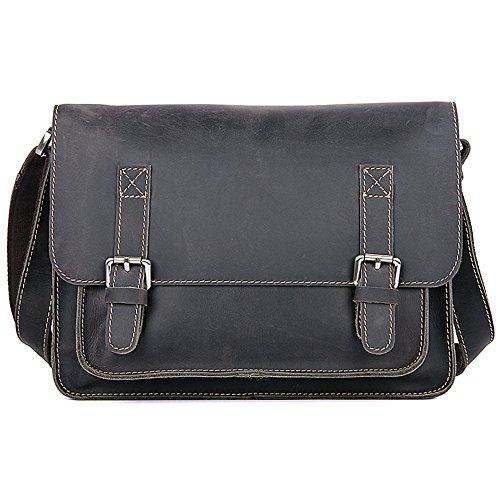 Bags Travail Cuir Bag Messenger Sac Et Aszhdfihas Le Pour Bandoulière À Travel Vintage Marron En Noir L'école couleur Crossbody qwAxSR4