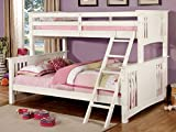 Cheap Furniture of America Denny TwinXL-Queen Bunk Bed, White