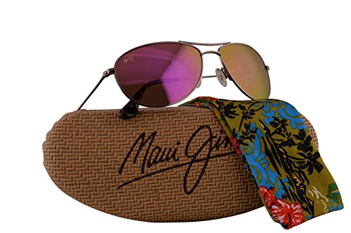 Maui Jim Baby Beach Sunglasses Rose Gold w/Polarized Maui Sunrise Lens - Jim Maui Sunglasses Round