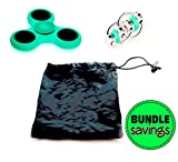 Stress Relief Sensory Fidget Toys For Adults & Kids - Glow In The Dark Hand Spinner & Flippy Chain Toy With Free Carrying Bag - For Fidgeters, Anxiety, Focus, ADHD, Autism #1 Therapist Recommended!