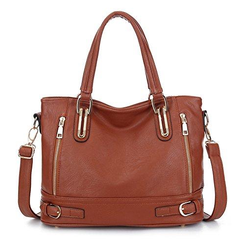 Xpccj - Bolso de tela para mujer Beige beige Tamaño libre, marrón (Marrón) - 15294053843144 Marrón