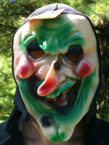 Goblin Costume Kids Green (SCARY HOODED Vinyl Halloween Costume HOODED Mask GREEN GOBLIN)