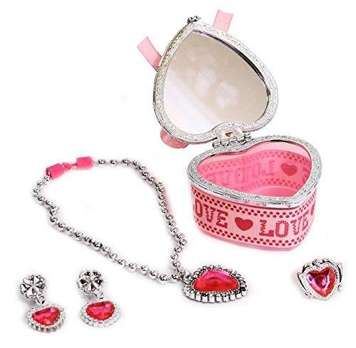 Amazoncom Dazzling Toys Jewelry Set In Heart Jewelry Box Includes