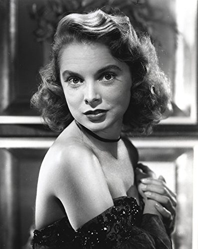 Posterazzi Poster Print Collection Janet Leigh Portrait in Black Strapless Sequin Soulder Dress with Hands Together on the Chest Photo, (24 x 30), Multicolored