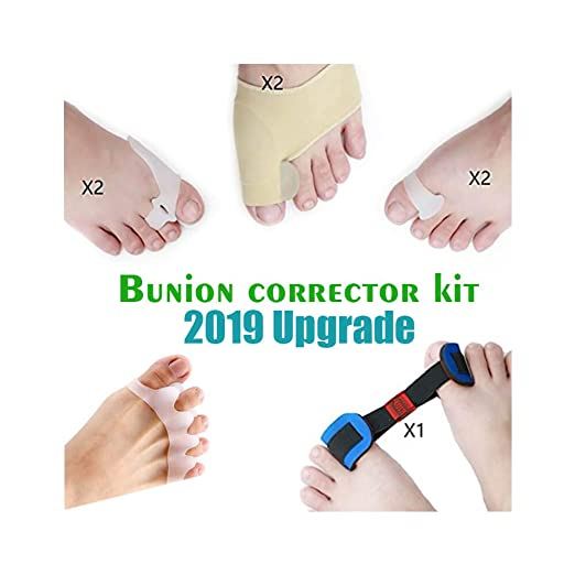 Amazon.com: Bunion Corrector and Bunion Relief Orthopedic Bunion Splint Kit Gel Pad Toe Spacers Stretchers Hammer Toe Straightener, Bunion Protector ...