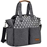 Lekebaby Baby Diaper Bag Use As Purse and Messenger Bag for Moms