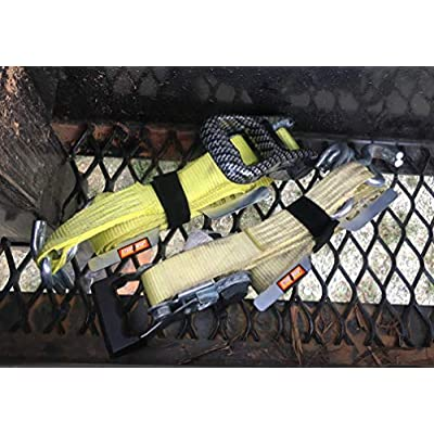 Strap Wrap Organizer - 4-Pack - Ratchet Cargo Tie-Down Strap Storage - Manages Strap During Use Too! (4, for 2