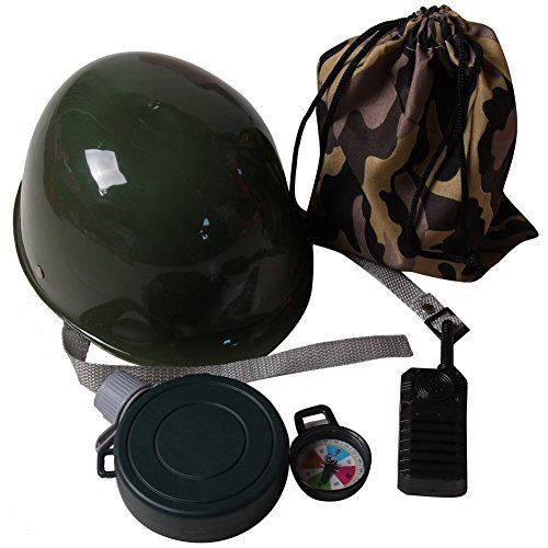 Kids Army Dress Up Camo Drawstring Bag Accessory Costume Kit