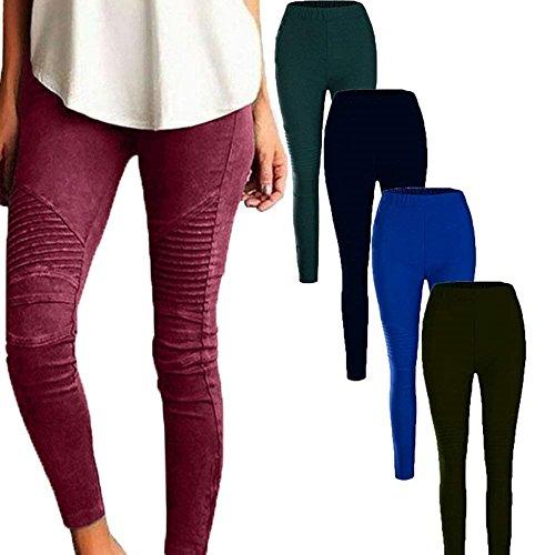 Moda Fit Donna Pantaloni A Abbigliamento Ragazza Vita Tasche Giovane Elastica Chic Khaki Cerniera Con Lunga Slim Eleganti Matita Di Stoffa FwZIEqZ