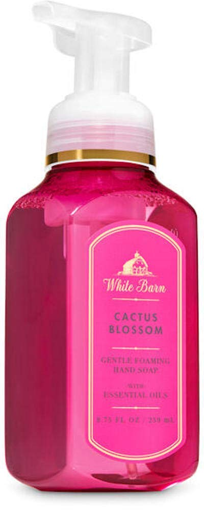 White Barn Bath and Body Works Cactus Blossom Gentle Foaming Hand Soap Pink Pump Bottle 8.75 Ounce Full Size