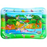 Luchild Inflatable Water Mat for Baby Kids Play Patted Pad Infants & Toddlers Fun Tummy Time Play Activity Center Toy for Baby's Stimulation Growth