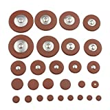 Andoer 28pcs Sax Leather Pads Replacement for