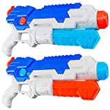 HD JUNTUNKOR Super Soaker Water Gun for Kids, 2 Pack Squirt Guns for Adults 40 Ft Long Range Water Soakers Blaster for Teens Beach Swimming Pool Water Fighting Toy - 800CC Capacity