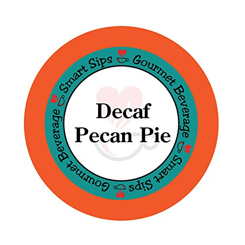 Almond Pecan Pie (Smart Sips, Decaf Pecan Pie Flavored Coffee, 24 Count, for All Keurig K-cup Machines, Decaffeinated Flavored Coffee)