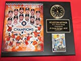 Astros 2017 World Series Champions Clock Plaque w/8x10 Photo and Card
