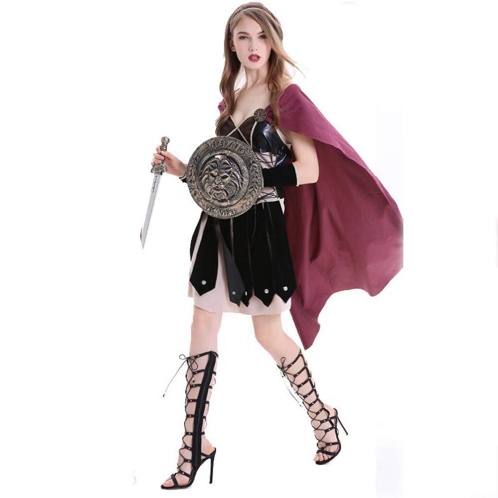 Yunfeng Hexenkostüm Damen Hexenkostüm Damen Halloween Kostüm Rolle Spielen Kostüm römische Kriegerin COS spanischen Gladiator Kostüm