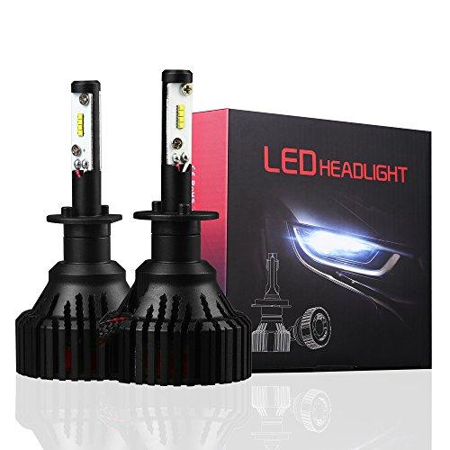 (Alla Lighting UM-2018 Vision H1 LED Bulb 8000 Lumens 6000K - 6500K Xenon White LED H1 Headlight Bulb All-in-One H1 Bulb Headlamp Conversion Kits H1 LED Headlight Bulbs (Set of 2))