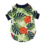 Fitwarm Palm Leaf Pet Clothes for Dog Shirts Cat T-shirts Apparel Green Medium