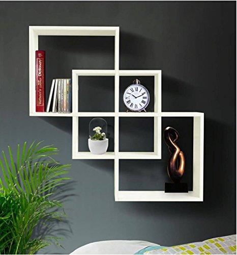 outstanding floating shelves living room   NEW Decorative Floating Wall Shelves White for Living Room ...