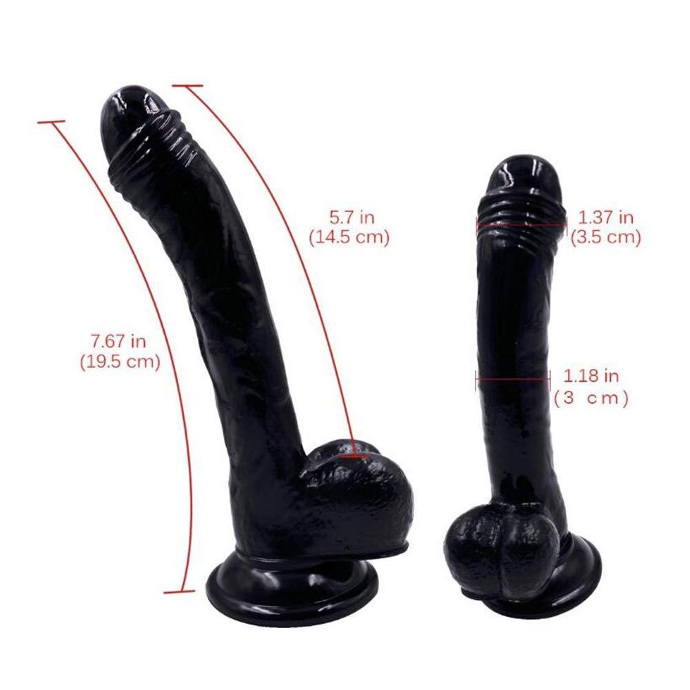 XEWNEG 7.7 Pulgadas simulación Realista consolador Femenino privacidad Varita Varita privacidad masajeador (Color : Negro) 30d2d9