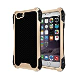 iphone 6s case, Feitenn Shockproof Rain proof Armor Trank Aluminum Metal bumper Gorilla Glass Military Heavy duty Silicon Rubber case Waterproof case for iphone 6