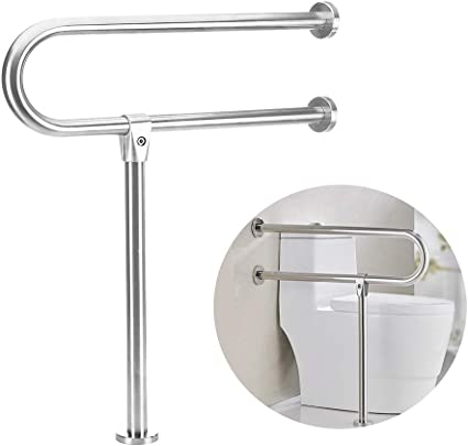 Amazon Com Handicap Grab Bars Rails 30 Inch Toilet Handrails Bathroom Safety Bar Hand Support Rail Handicapped Handrail Accessories For Seniors Elderly Disabled Bariatric Railing Wall To Floor Mounted Bath Grips Health Personal