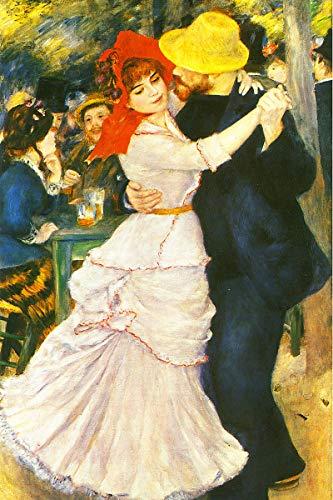 American Gift Services - Artist Pierre Auguste Renoir Poster Print of Painting Dance at Bougival - - Renoir Dance