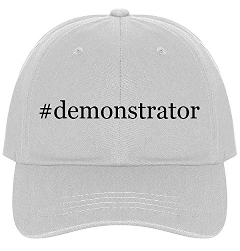 Demonstrator Mirror - The Town Butler #Demonstrator - A Nice Comfortable Adjustable Hashtag Dad Hat Cap, White, One Size