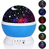 Adoric Night Lighting Lamp, Star Light Rotating Projector, 4 LED Bulbs 8 Modes for Children Kids Bedroom (3.2FT USB Cord)