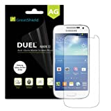 GreatShield Ultra Anti-Glare (Matte) Clear Screen Protector Film for Samsung Galaxy S4 Mini i9190 / i9195 (3 Pack)