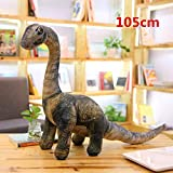 thanhthanh 5 Styles Simulation Dinosaur Plush Toy Soft Cartoon Pillows Tyrannosaurus Stuffed Toys Doll for Boys Kids Birthday Gift (Big Seismosaurus)