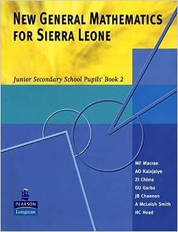 Buy New General Maths for Sierra Leone JSS PB 2 Book Online