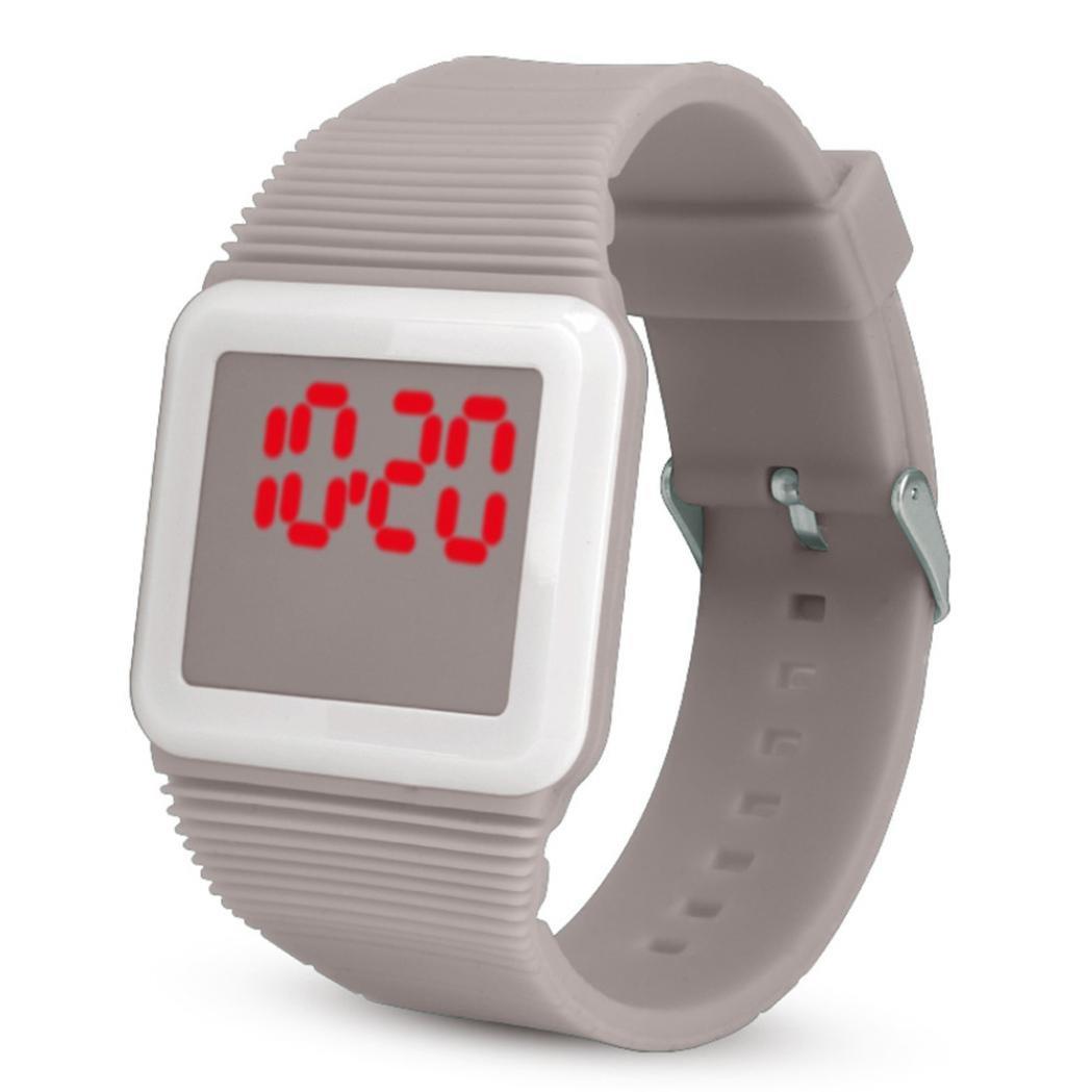 Amazon.com : Iuhan® LED Wrist Watch for Boys Girls Little Child, Electronic Digital LED Silicone Watch Boys Girls Casual Watcher Wristwatch Bracelet (Black) ...