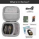 awesafe GF01L Protection auditive électronique pour les sports d'impact [Livré avec sac de transport rigide], Protège… 9
