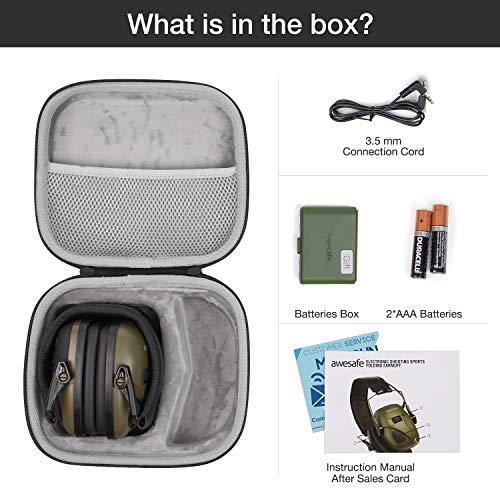 awesafe GF01L Protection auditive électronique pour les sports d'impact [Livré avec sac de transport rigide], Protège… 2